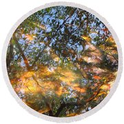 Aqueous Reflections Round Beach Towel