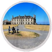 Round Beach Towel featuring the photograph Fort Niagara  by Raymond Earley