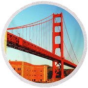 Fort Ross At The Golden Gate Round Beach Towel