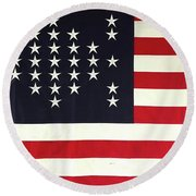 Fort Sumter Flag Round Beach Towel