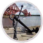 Round Beach Towel featuring the photograph Forth Bridge by Jeremy Lavender Photography