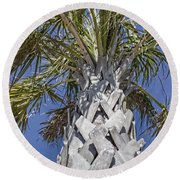 Fortified Foundation Palm Round Beach Towel
