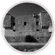 Round Beach Towel featuring the photograph Fortress Nehaj In Senj by Davor Zerjav
