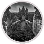Fortress Of Sao Joao Baptista, Monte Brasil, Terceira Round Beach Towel