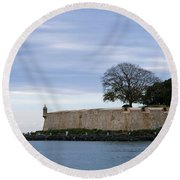 Fortress Wall Round Beach Towel by Lois Lepisto
