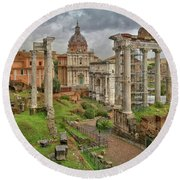 Forum Romanum Round Beach Towel