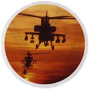 Four Ah-64 Apache Anti-armor Round Beach Towel