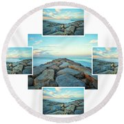 Four And One Round Beach Towel