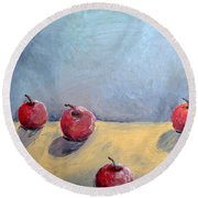 Four Apples Round Beach Towel