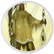 Four Bears Mandan Chief 1833 Round Beach Towel