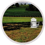 Four Chairs And A Tire P 19074 48x16 Round Beach Towel