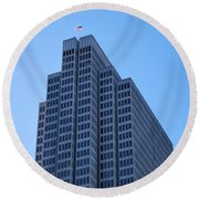 Four Embarcadero Center Office Building - San Francisco Round Beach Towel