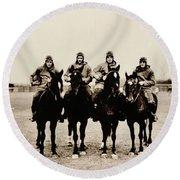 Four Horsemen Round Beach Towel