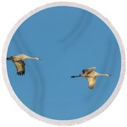 Four In Formation Round Beach Towel