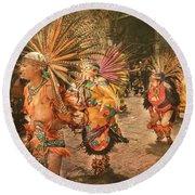 Four Indian Dancers Round Beach Towel