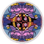 Four Kings Round Beach Towel