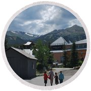 Four Little Children Safe In A Big Beautiful World Telluride Colorado Round Beach Towel