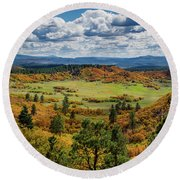 Four Mile Road Peak Color Round Beach Towel