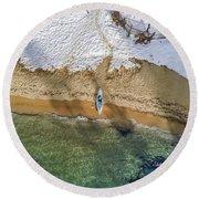 Four Seasons Round Beach Towel by Alpha Wanderlust