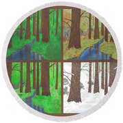 Four Seasons Round Beach Towel