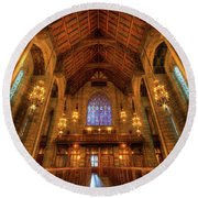 Fourth Presbyterian Church Chicago IIi Round Beach Towel