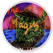 Fowles Magus Poster  Round Beach Towel