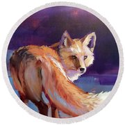 Fox 1 Round Beach Towel