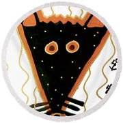 Fox Round Beach Towel by Clarity Artists