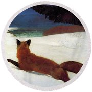 Fox Hunt Round Beach Towel