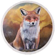 Fox Knows Round Beach Towel