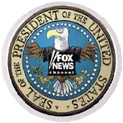 Fox News Presidential Seal Round Beach Towel