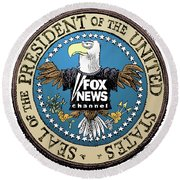 Fox News Presidential Seal Round Beach Towel