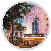 Fox Theatre In St.louis Round Beach Towel