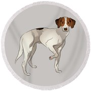 Foxhound Round Beach Towel
