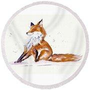 Foxy Flea Magnet Round Beach Towel