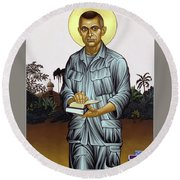 Fr. Vincent Capodanno, The Grunt Padre - Lwvcd     Round Beach Towel