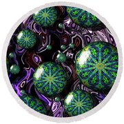 Fractal Abstract 7816.5 Round Beach Towel