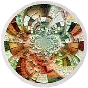 Fractal Abstract Round Beach Towel