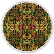 Fractal Anomaly 5 Round Beach Towel