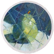 Fractured D'anjou Round Beach Towel