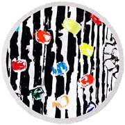 Fractured Light  Round Beach Towel