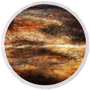 Fractured Round Beach Towel