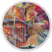 Fragile Detail  Round Beach Towel