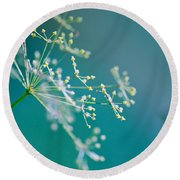 Fragile Dill Umbels Round Beach Towel