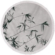 Round Beach Towel featuring the photograph Fragility And Strength by Linda Lees