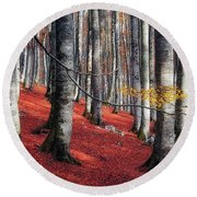 Fragility II Round Beach Towel