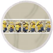 Fragmented And Still In Awe Congratulations Minions Round Beach Towel