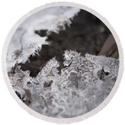 Fragmented Ice Round Beach Towel