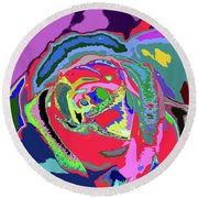 Fragrance Of Color  Round Beach Towel