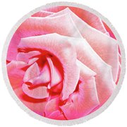 Fragrant Rose Round Beach Towel